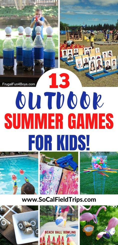 13 Outdoor Summer Games For Kids