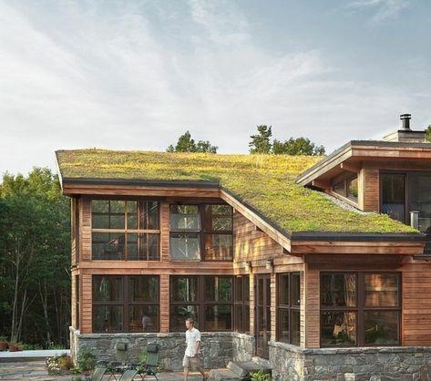 toit-végétal-chalet-avec-toiture-végétalisée | projetos en 2019 ...