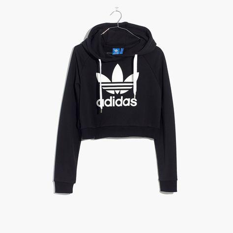 dirt cheap cheapest price dirt cheap Madewell Womens Adidas Trefoil Crop Hoodie Sweatshirt | Nike ...