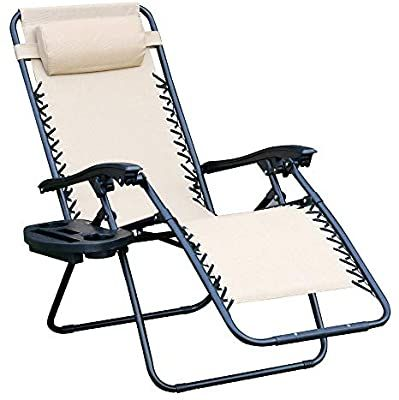 Amazon Com Wego Zero Gravity Chair Lawn Chair Flolding Recliner Lounge Chair With Removable Pillow And Si In 2020 Lawn Chairs Zero Gravity Chair Folding Lounge Chair