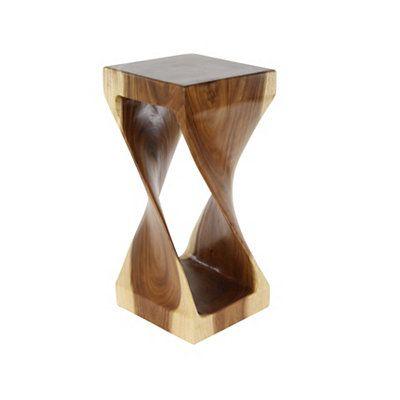 Suar Twisted Wood Medium Accent Table