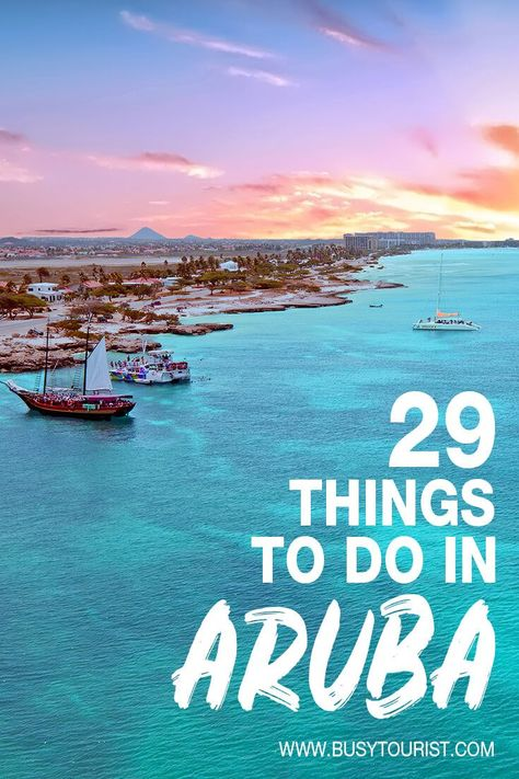 29 Best & Fun Things To Do In Aruba Planning a vacation at Aruba? This travel guide will show you the best beaches, attractions, activities and fun things to do in Aruba. Start planning your itinerary and bucket list now! Destin Beach, Beach Trip, Beach Travel, Palm Beach Aruba, Hawaii Travel, Bora Bora, Places To Travel, Travel Destinations, Holiday Destinations