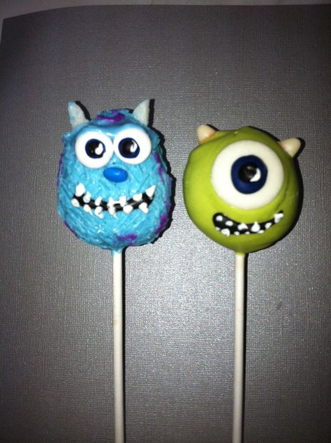 How To Make Monsters Inc Cake Pops You Confections Pop And