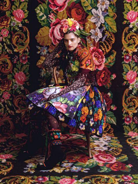 The Silk Road — Frida Kahlo inspired fashion shoot, using...