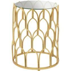 Beistelltische Ablagetische Glass Side Tables Gold Leaf