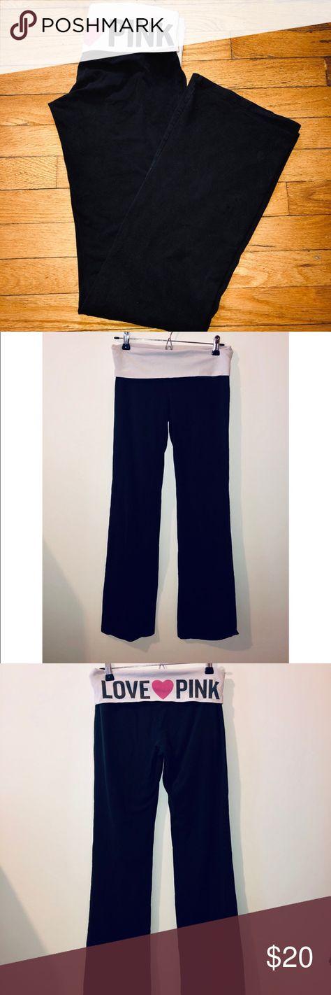 1a81c31461ccf3 PINK By Victoria Secret Foldover Yoga Pants Small PINK By Victoria Secret  Foldover Yoga Pants Size