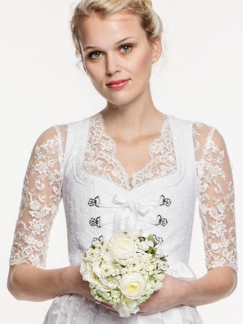 """Weißes Hochzeitsdirndl """"Edelweiß"""" von LIMBERRY"""