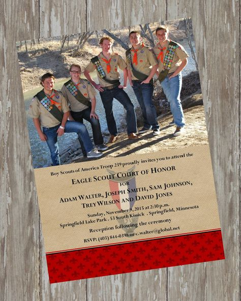 Eagle Scout Invitations  Thrifty group by ItsAllAboutTheCards