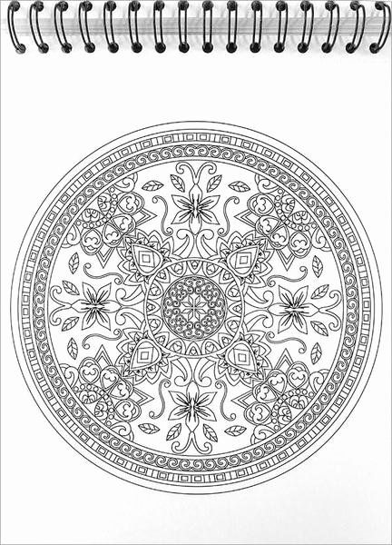 Colorit Coloring Books Unique Mandala Coloring Book With Hardback Covers Spiral Binding Colorit Mandala Coloring Mandala Coloring Pages Star Coloring Pages