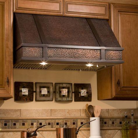 Limoges Series 30 Wall Mount Solid Copper Range Hood Kitchen