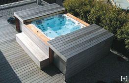 Fancy Whirlpool mit Abdeckung Hydrops Whirlpool Pinterest Jacuzzi Hot tubs and Garten