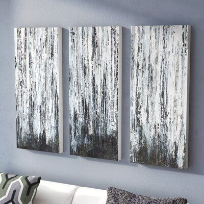Wade Logan Birch Forest 3 Piece Wrapped Canvas Graphic Art On Canvas Wayfair Ca In 2020 3 Piece Canvas Art Canvas Art Diy Canvas Art