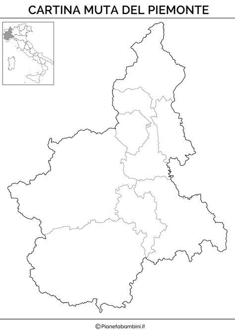 Regione Piemonte Cartina Fisica.Cartina Muta Fisica E Politica Del Piemonte Da Stampare Attivita Geografia Geografia Lezioni Di Scienze