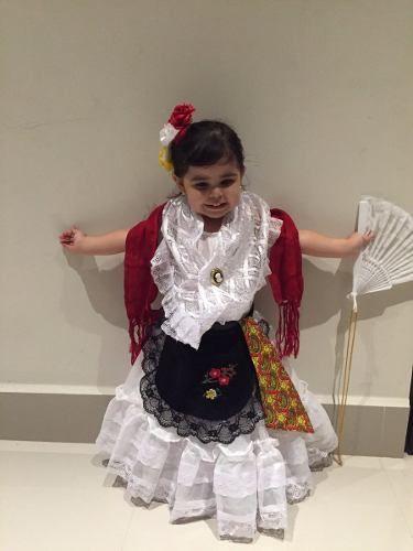 Traje Tipico De Veracruz Lujo Jarocha Niña 9 A 12 Años En