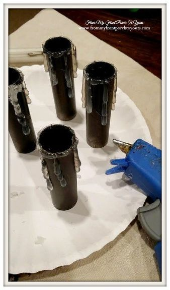 Updating Chandelier Socket Covers To Make Them Look Like Candles