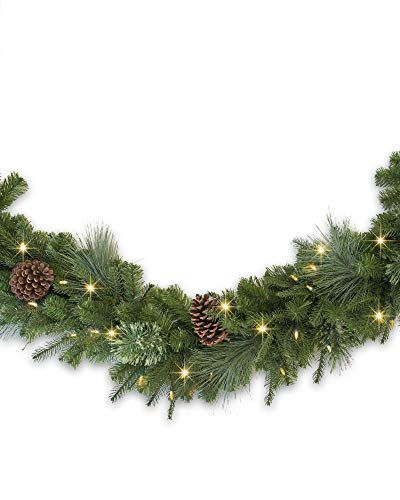 Christmas Garland With Lights Battery Operated Balsam Hill Mixed