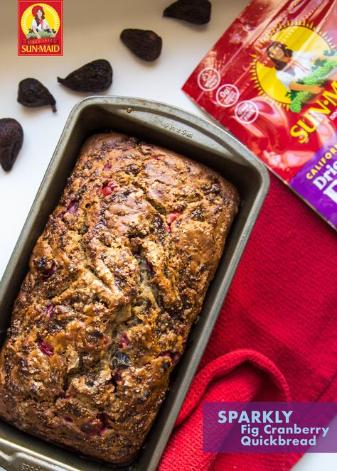 Our cranberry quickbread marries decadence & a smart ingredient swap in holiday baking. Bake cranberry orange quickbread for a homemade gift. #cranberryquickbread #cranberryorangequickbread #valleyfig