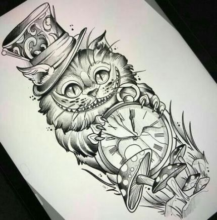 35 Ideas For Tattoo Ideas Alice In Wonderland Tattoo Alice And