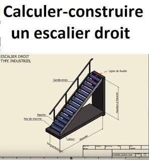 Calcul Et Construction D Un Escalier Droit Escalier Droit