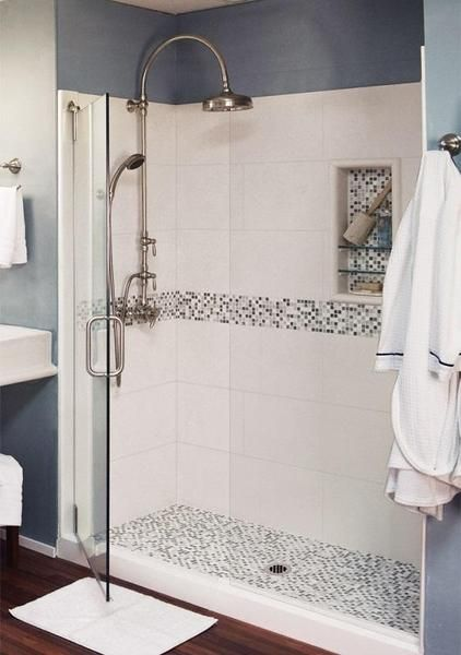 Mosaic Collection 60 Alcove Shower Kits In Natural Buff