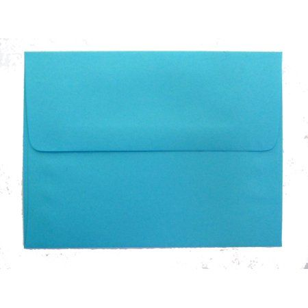 Shipped Free 100 Bright Lagoon Blue A2 Envelopes 4 3 8 X 5 3 4 Square Flap For Tiffany Blue Weddings Birth Announcement Photos Greeting Cards And Invitations