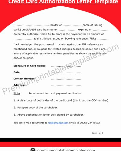 Credit Card Authorization Letter Template Best Of Denial Of Credit Letter Templates Premium Printable Letter Templates Name Badge Template Job Letter