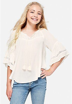 912c53f24c9 Crochet Bell Sleeve Peasant Top | my birthday wish list in 2019 ...