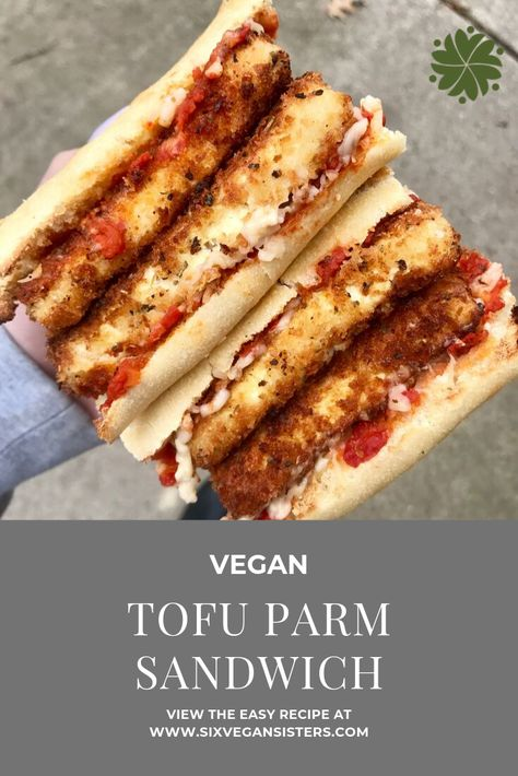 This recipe is sure to impress all your non-vegan friends and family! It is supe… This recipe is sure to impress all your non-vegan friends and family! It is super easy to put together and even tastes it came right from the delI! Vegan Sandwich Recipes, Vegan Dinner Recipes, Whole Food Recipes, Vegetarian Recipes, Cooking Recipes, Vegan Sandwiches, Tofu Sandwich, Deli Sandwiches, Easy Vegan Dishes