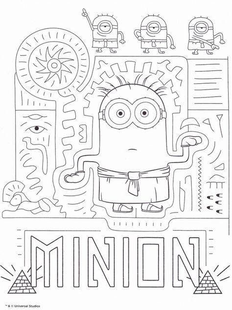 Coloriage Minion Gratuit Minion Egyptien Coloriage Minion