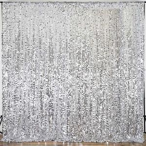 20ft Silver Big Payette Sequin Curtain Panel Backdrop Wedding Party Photography Background 1 Pcs Wedding Party Photography Winter Backdrops Wedding Themes Winter