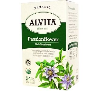 Alvita Teas Organic Passionflower Tea Caffeine Free 24 Tea Bags 1 13 Oz 32 G Iherb Com Passion Flower Tea Organic Herbal Tea Organic Teas