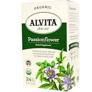 Alvita Teas Organic Passionflower Tea Caffeine Free 24 Tea Bags 1 13 Oz 32 G Iherb Com Passion Flower Tea Organic Herbal Tea Organic Teas