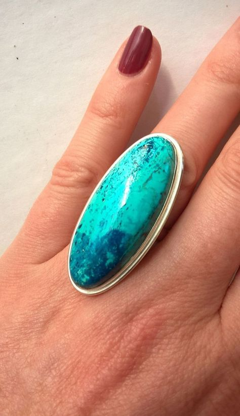 Ring from Natural Chrysocolla