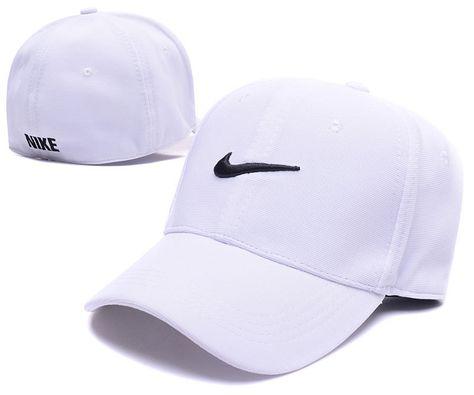 60c685cc107 Men s   Women s Nike Swoosh Logo Embroidery Flexfit Dad Hat - White   Black