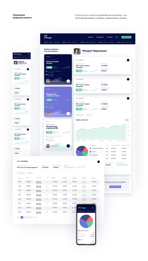 Investment strategy Fintech web Dashboard   UI/UX