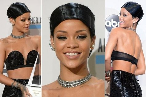 In Case You're Wondering, Rihanna's Interesting AMA Hairstyle is Called a 'Doobie' - Hair Ideas - StyleBistro