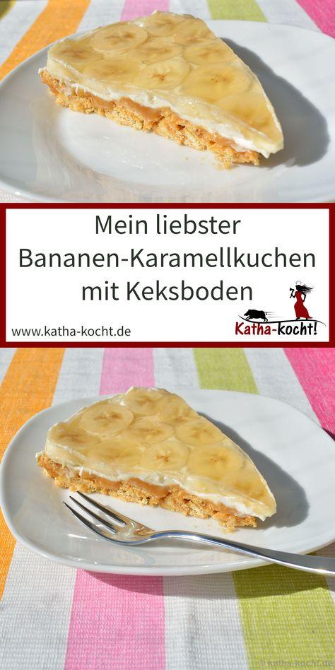 Photo of Bananen-Karamellkuchen mit Keksboden