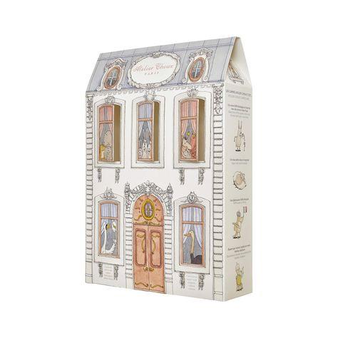 Atelier Choux White 100% Organic cotton Machine washable at 40°C Pack of 3 print organic cotton swaddles 120 x 120 cm (47.2 x 47.2 inches) - Atelier choux & Mansion Monceau & Doll House | Melijoe.com