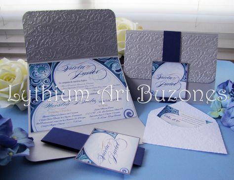 "Invitaciones para Boda ""Damasco"" | Lythium Art®  Design by: Yil Siritt"