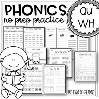 Wh And Qu Worksheets In 2020 Spelling Center Activities Phonics Centers Reading Fluency Games
