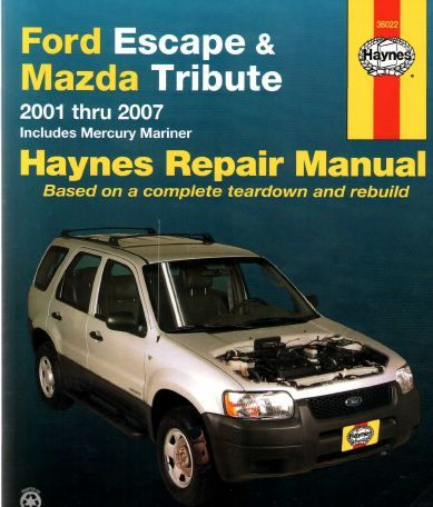 Ford Escape 2000 2007 Workshop Service Repair Pdf Manual