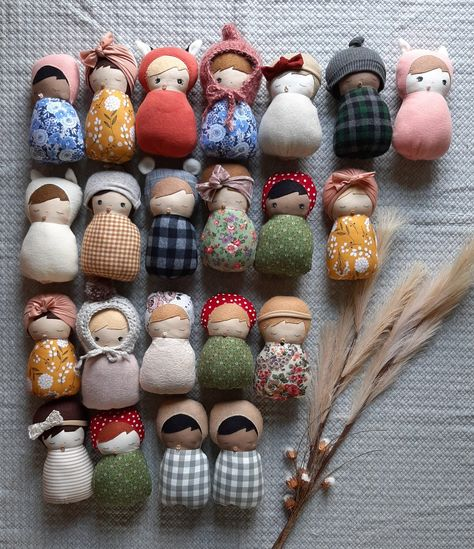 Soft toys full of character and love for little hugs by MamaBearSewShop Doll Crafts, Diy Doll, Sewing Crafts, Sewing Projects, Craft Projects, Fabric Toys, Fabric Crafts, Handmade Toys, Handmade Baby