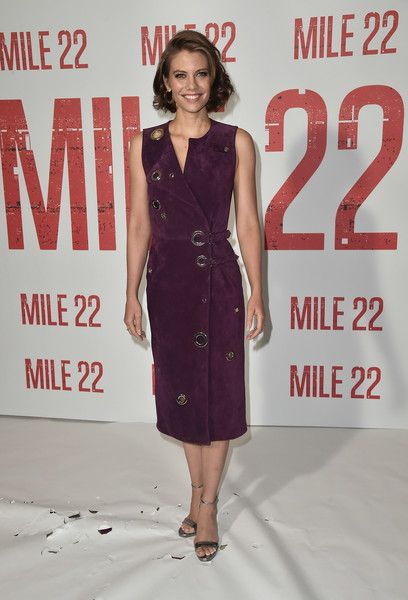 Lauren Cohan attends a photo call for STX Films' 'Mile 22' at Four Seasons Hotel Los Angeles.