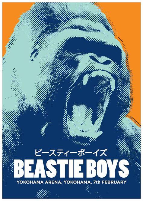 Beastie Boys concert poster gig poster art music inspired