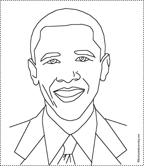 african american coloring pages | President Barack Obama ...