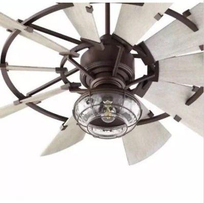 Windmill Fan Single Light Kit Bronze Or Galvanized New Ebay Ceiling Fan With Light Windmill Ceiling Fan Ceiling Fan