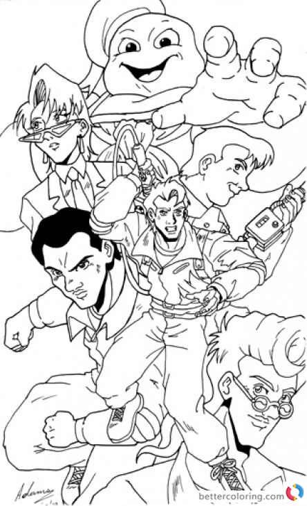 Free Ghostbusters Coloring Pages For Kids And Adults Cartoon Coloring Pages Coloring Pages Ghostbusters Birthday Party