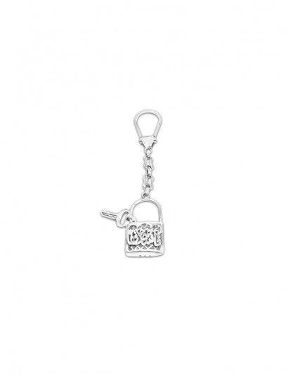 ميدالية فضة عيار 925 ميدالية فضة على شكل قلب ومفتاحه Tag Necklace Dog Tag Necklace Necklace