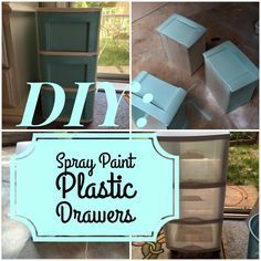 DIY: Plastic Drawers Makeover   Live To Love DIY I'm definitely going to do this to my ugly green plastic drawers from undergrad