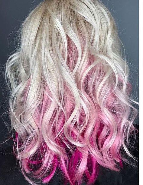 Platin und rosa Haare -  #haare #platin #Rosa #und - Hair Colors Blonde Ideen - #blonde #Colors #Haare #Hair #Ideen #Platin #rosa #und